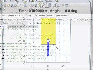 MATLAB: Underwater Vehicle Rudder PID Controller
