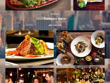 Design home page for Restaurant