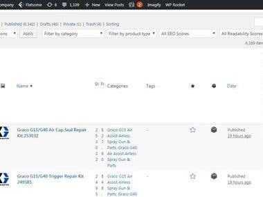 Wordpress Product Listing