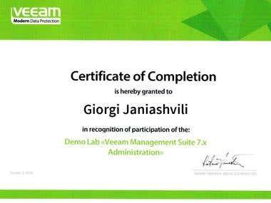 Veeam Management Suite 7.x Administration
