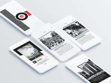 History App UI