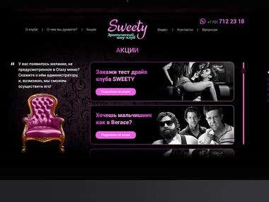 Website for Sweety Club