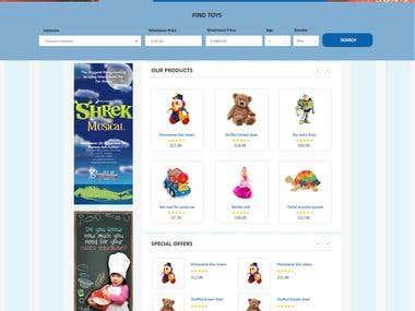 Toy shop website