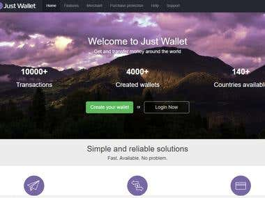E-Wallet Website
