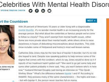 15 Celebrities With Mental Health Disorders