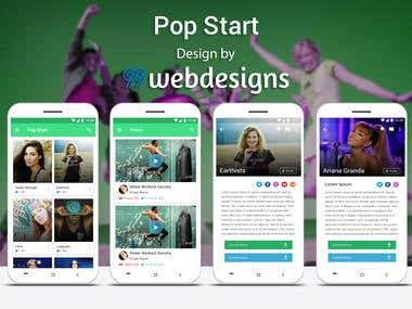 Pop Star Mobile App Design