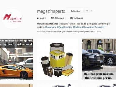 Magazina Parts&Tires Facebook and instagram