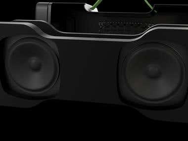 3D Boat Stone 1000 Portable Bluetooth Speaker.