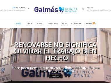 WordPress / Clínica Dental