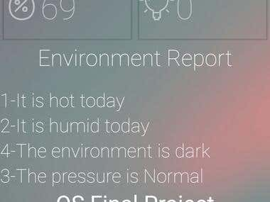 Ambient Environment Reporting Android Application