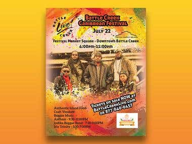Battle Creek Caribbean Festival Flyer