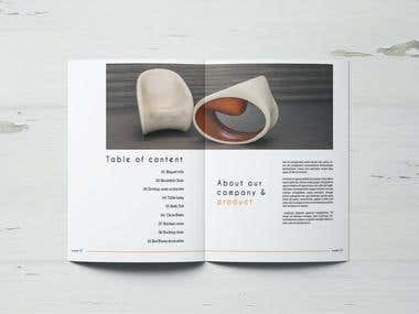 Bi-Fold Product Catalog Design
