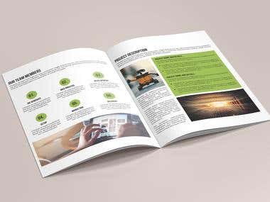 Bi-Fold 12 Pages Brochure Template