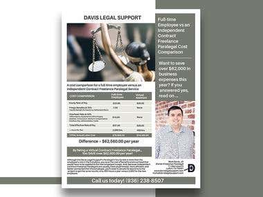 Davis Legal Support Flyer