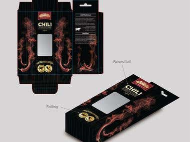 Packaging for beef with chilli