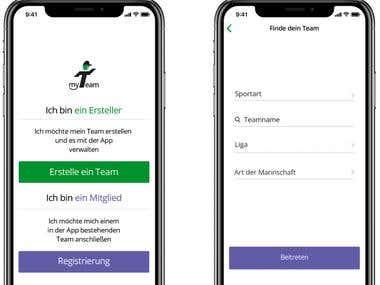 MyTeam App (iOS/Android)