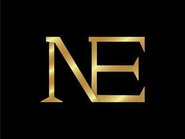 NE logo with different colors
