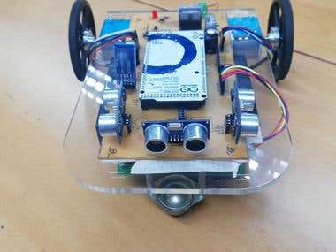 Bluetooth enabled Smartphone controlled Robot