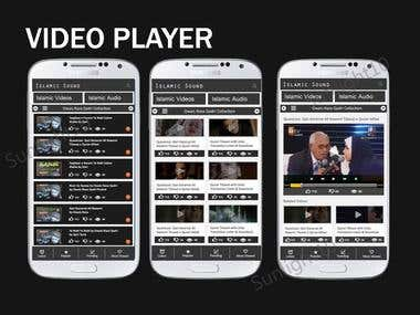 Video Player app - Social