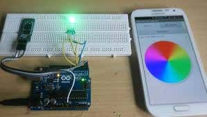 Arduino RGB LED control using Bluetooth