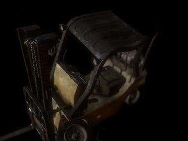 Damaged Forklift