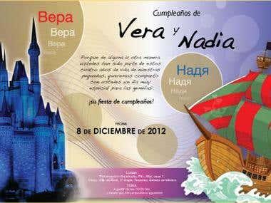 Invitación Vera y Nadia