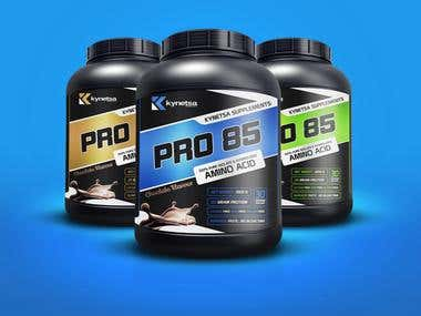 Supplement Packaging Design - PRO85 by Knetsa Supplement