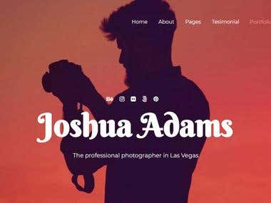Photographer Creative & Unique Responsive Landing Template