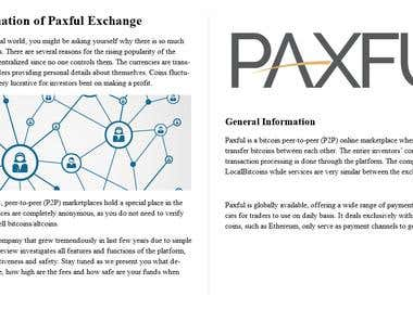 Evaluation of Paxful Exchange