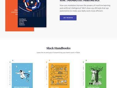 Slack Handbooks Landing Page