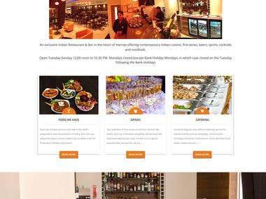 Restaurant website in London