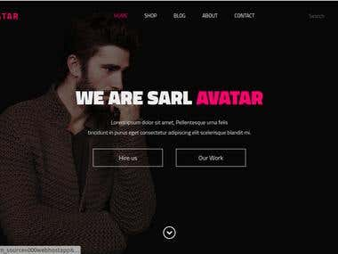 Avatar E-comerce website