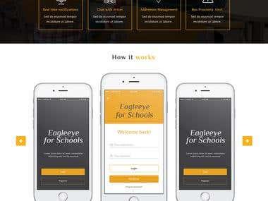 Eagleeye for schools website design and development