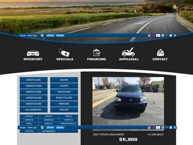 Cars Auto Sales Site Development with Html, PHP, etc..