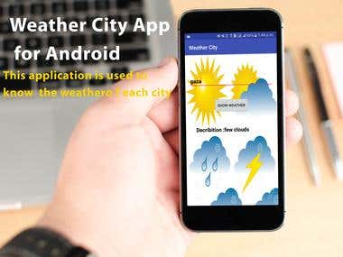 Weather City Application