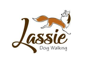 Lassie Dog walking