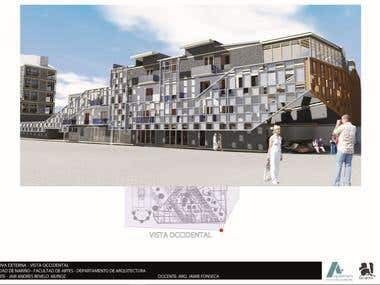 Diseño 3d, arquitectura, renderizado