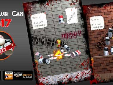 Knockdown Can 2017 ( Unity3D game )