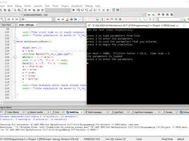 Car Simulation on C & C++ programming