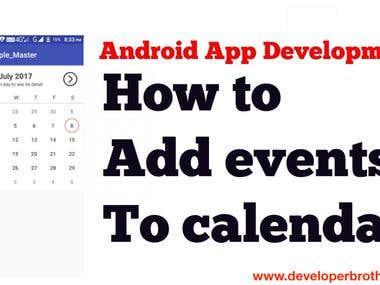Highlight Events in Custom Calendar in Android Studio