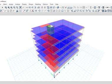 Structural analysis using ETABS