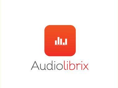 Logo for a Audio Books Library App