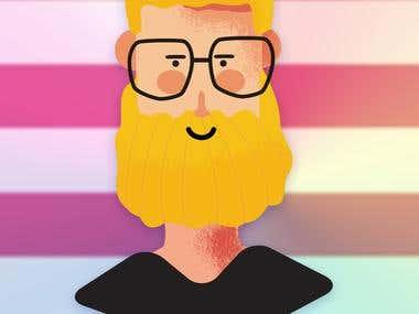 Yellow beard Geek