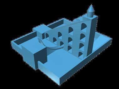 Jantar Mantar Sundial 3D Model 1