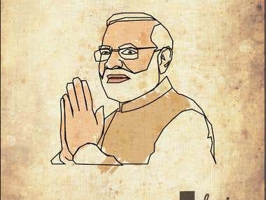 Indian Prime Minister Illustration