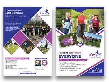 Nordic Walking Double Sided Flyer