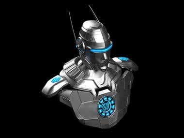 3D Robotic Head