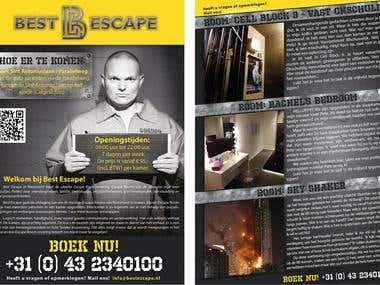 Escape room flyer design