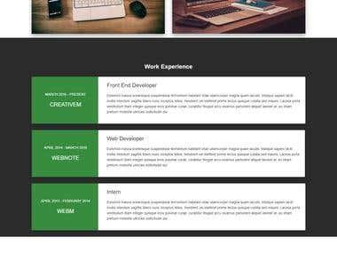 HTML CV