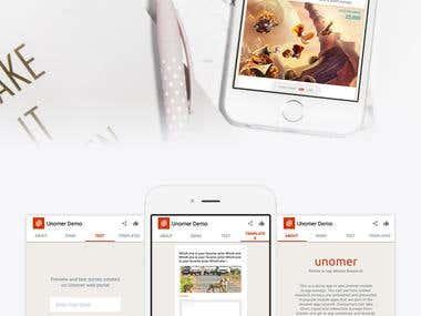 UNOMER Demo App